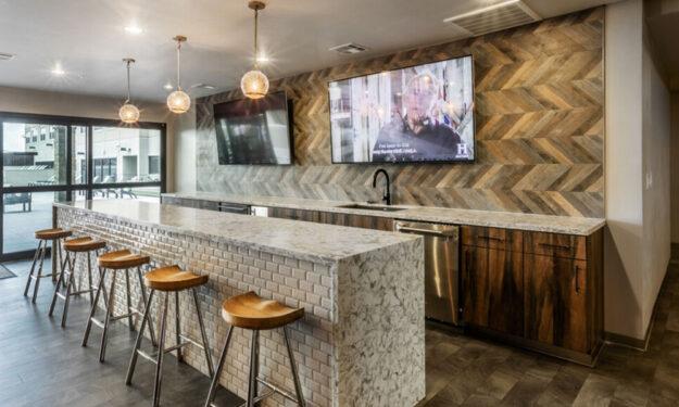 Clubroom bar at Rise at Northgate