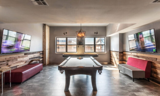 Billiards table at Rise at Northgate
